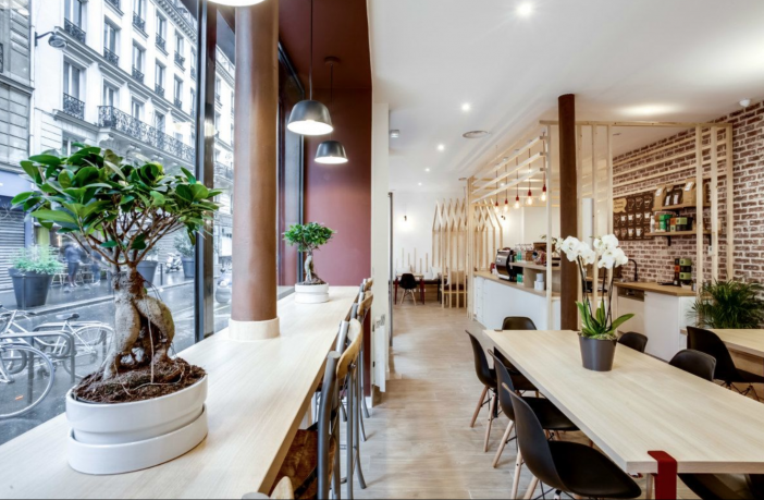 A coworking space in Paris, France.
