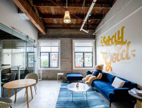 A coworking space in California.