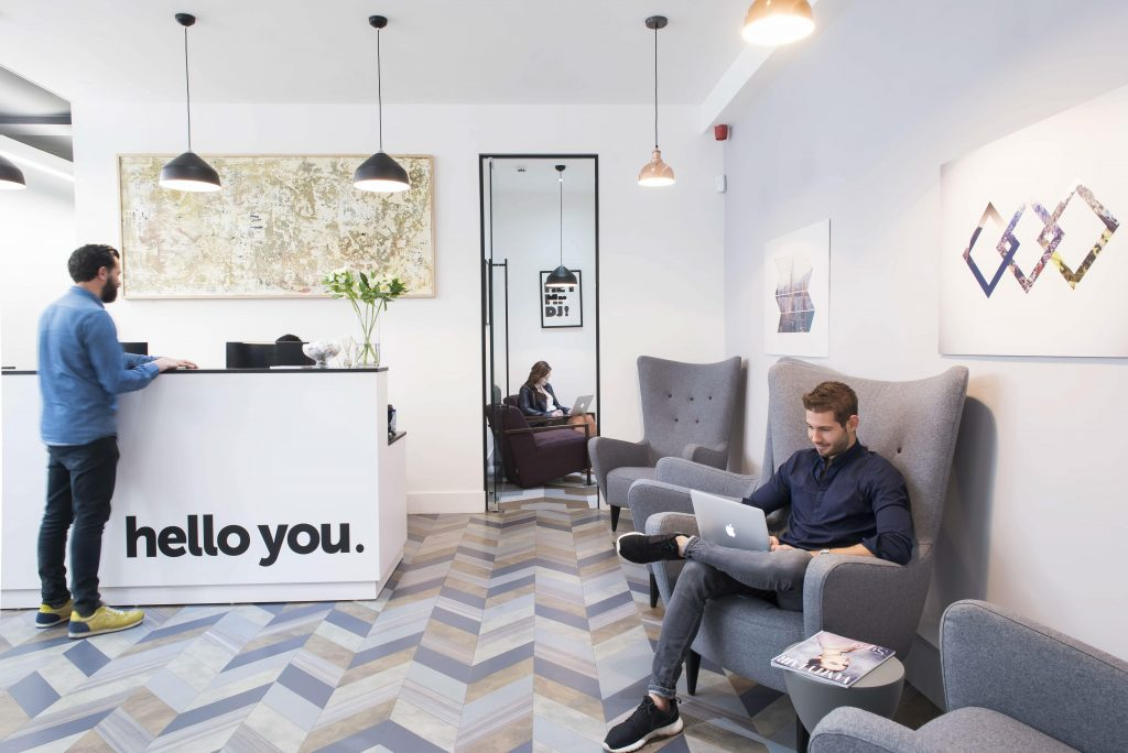 A coworking space in the UK.