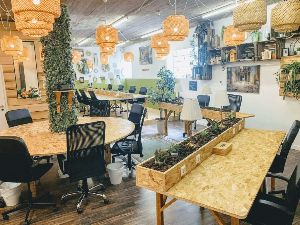 A coworking space in Luxembourg.