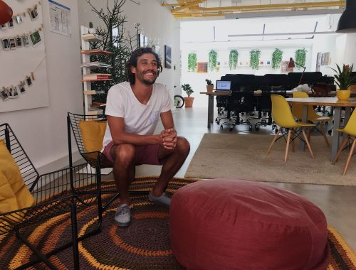 Antonio, the founder of Resves Cowork Space in Lisbon, Portugal.