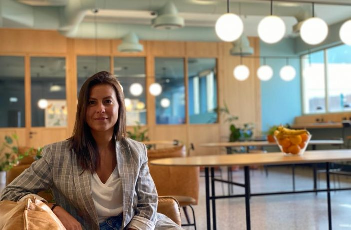 Aimara, the community manager at WOOD coworking in Lisbon