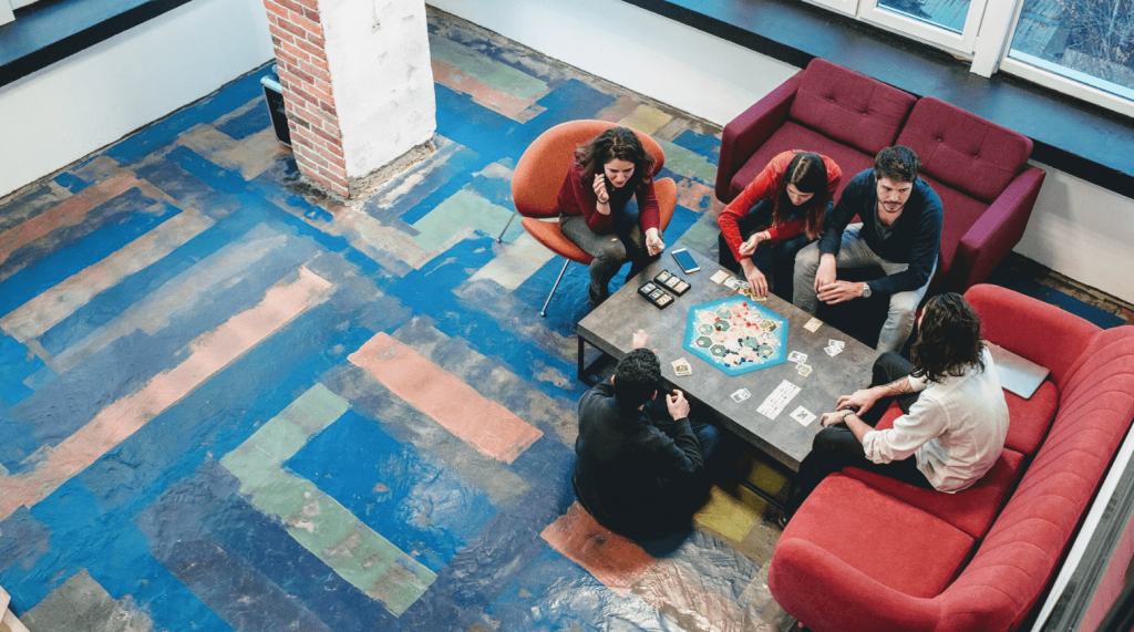 A coworking space in Bulgaria.