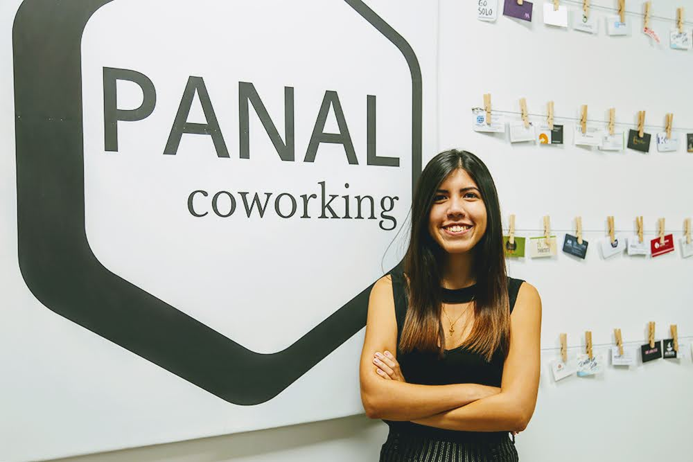 A coworking space manager in Ecuador at Panal Coworking.