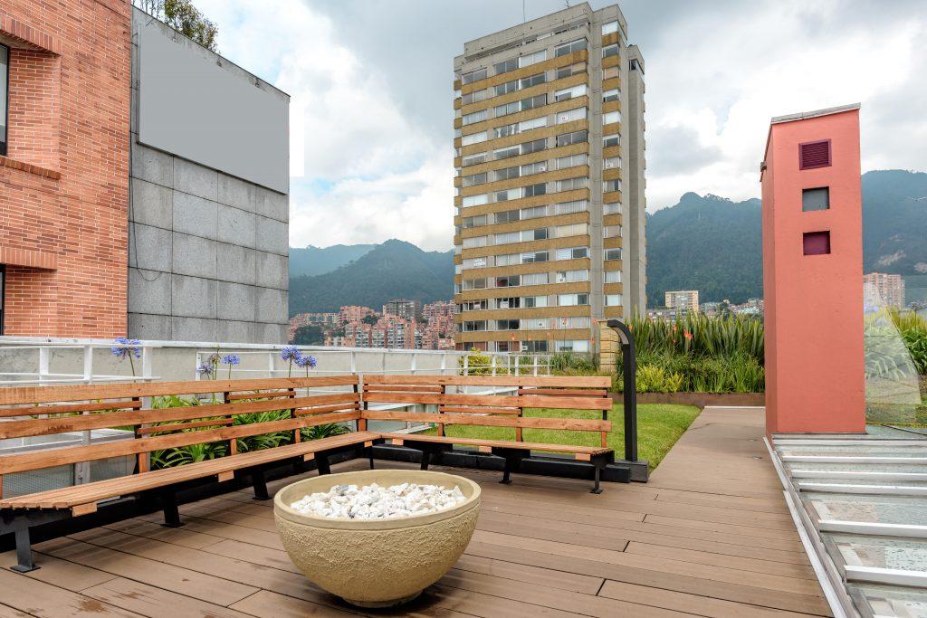 A coworking space in Bogota.