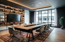 A Radisson Hotel meeting room for professionals.