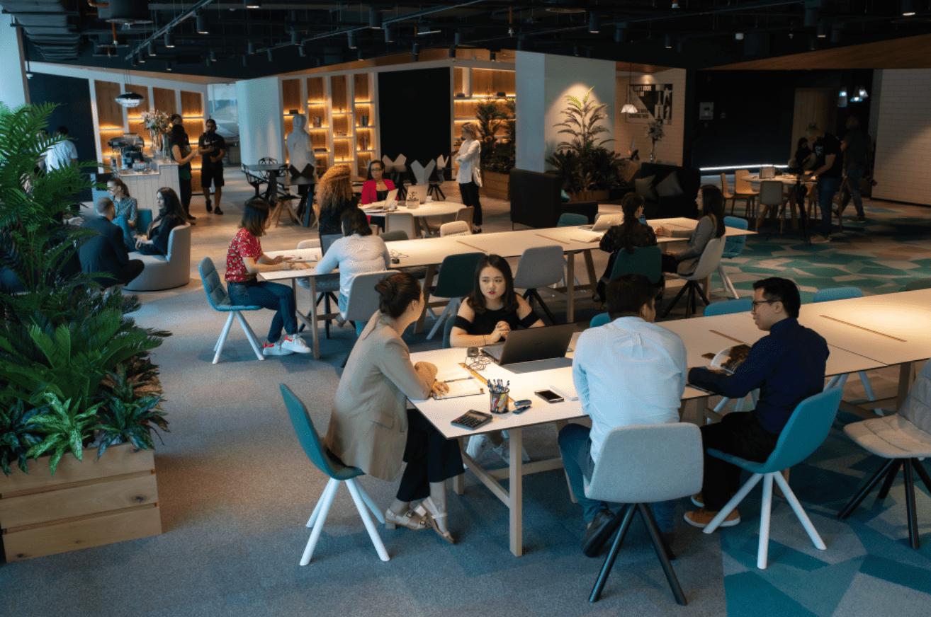 A coworking space in Dubai.