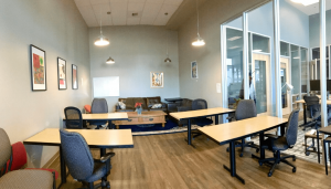 A coworking space in California focused on sustainability.