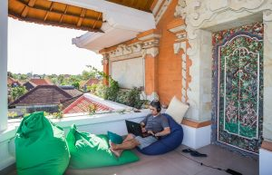 A coworking space in Bali.
