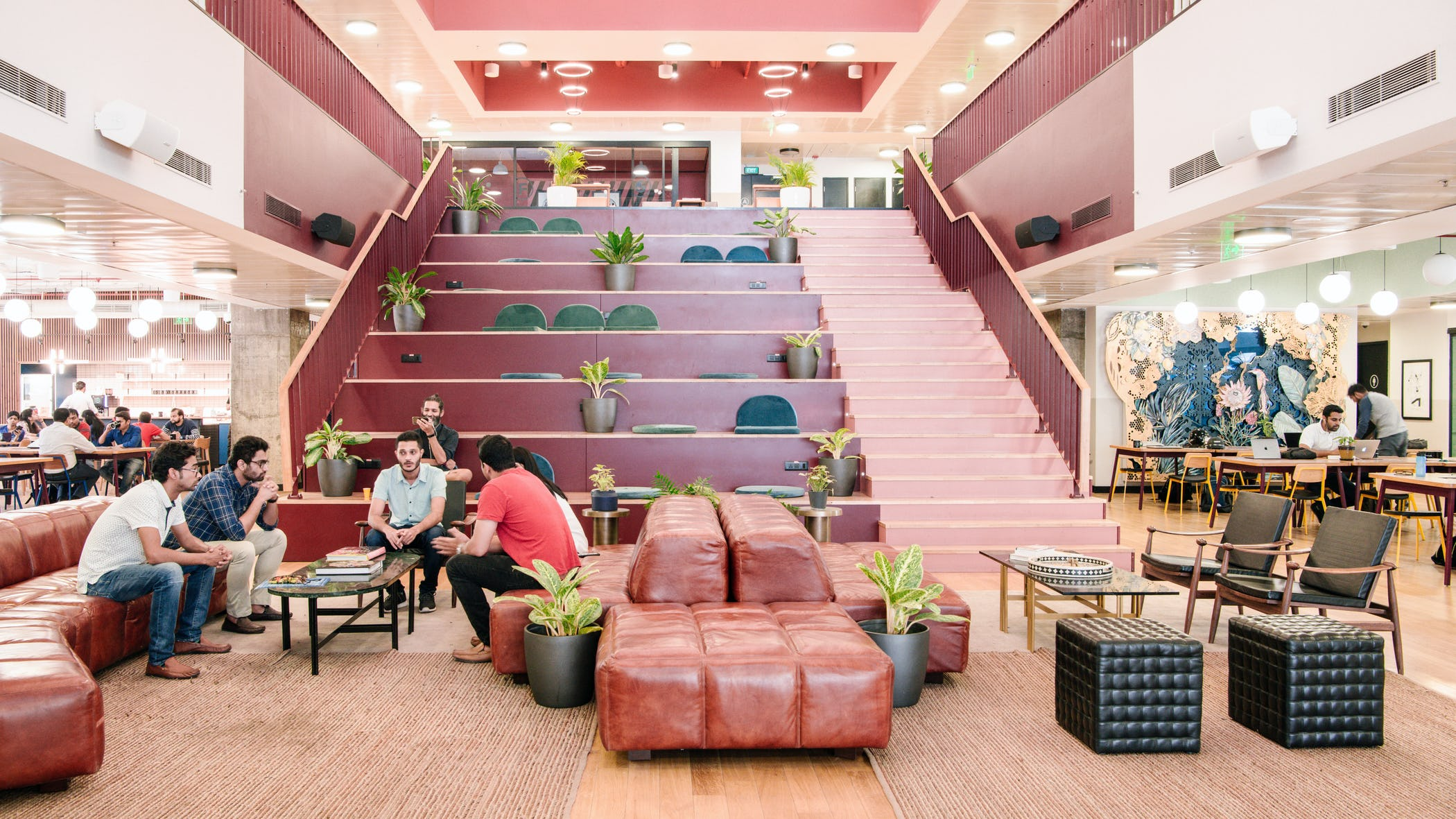 A coworking space in India.