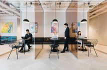 A coworking space in Tokyo.