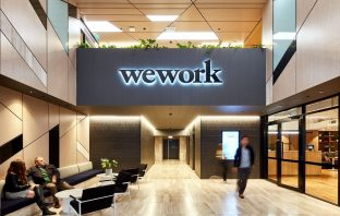 A photo of one of WeWork's coworking spaces.