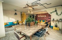 A coworking space in Morocco.