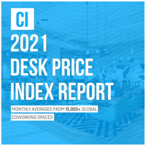 A title image for the 2021 Desk Price Index report.