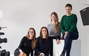 A photo of the four founders of Tadah, a coworking space in Switzerland.