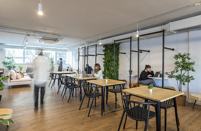 A coworking space in Lisbon.