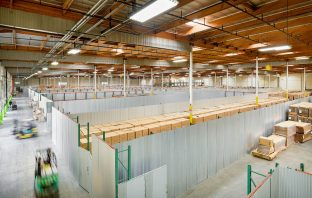 A photo of an industrial warehouse and flexible office provider in California.