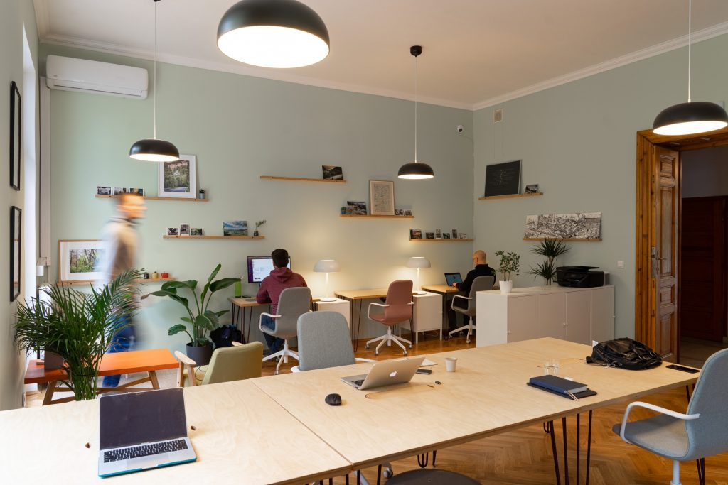 A coworking space in Krakow, Poland.