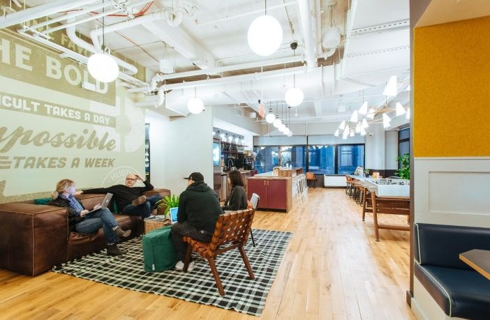 A coworking space in New York City.